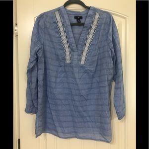 3/ FOR $20 DE GAP Blue Boho Tunic LG